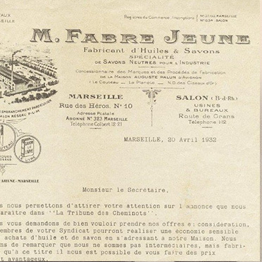 History of Marius Fabre, french Maseille soap manufacturer
