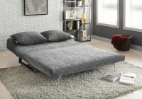 CONTEMPORARY GREY SOFA BED Converts from Sofa to Chaise ...