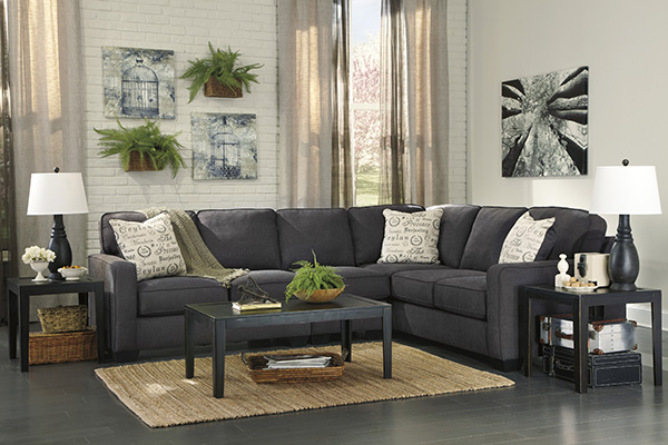 Alenya 3Piece Corner Sofa Sectional in Charcoal  Marjen