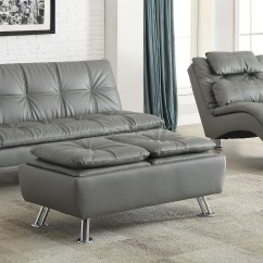 Chicago Sofa Bed On Tufted Leather Sectional Grey With Available Matching Chaise And Storage