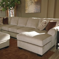 Armless Sofas Sectional Sofa With Cuddler Chaise Hazes Fleece Raf 4 Piece   Marjen Of ...