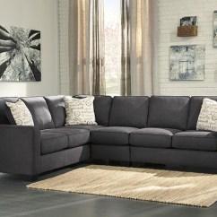 Ashley Sleeper Sofa High End Beds Alenya 3-piece Corner Sectional In Charcoal | Marjen ...