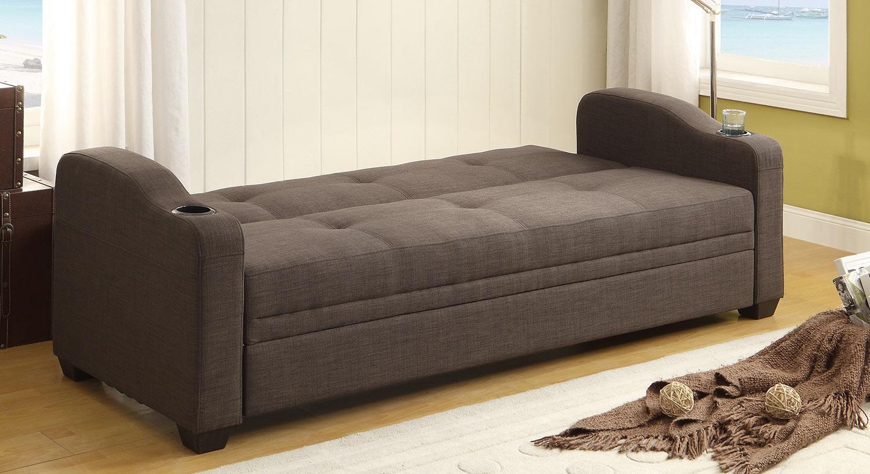 chicago sofa bed living room ideas with dark brown leather sofas homelegance caffrey elegant lounger grey