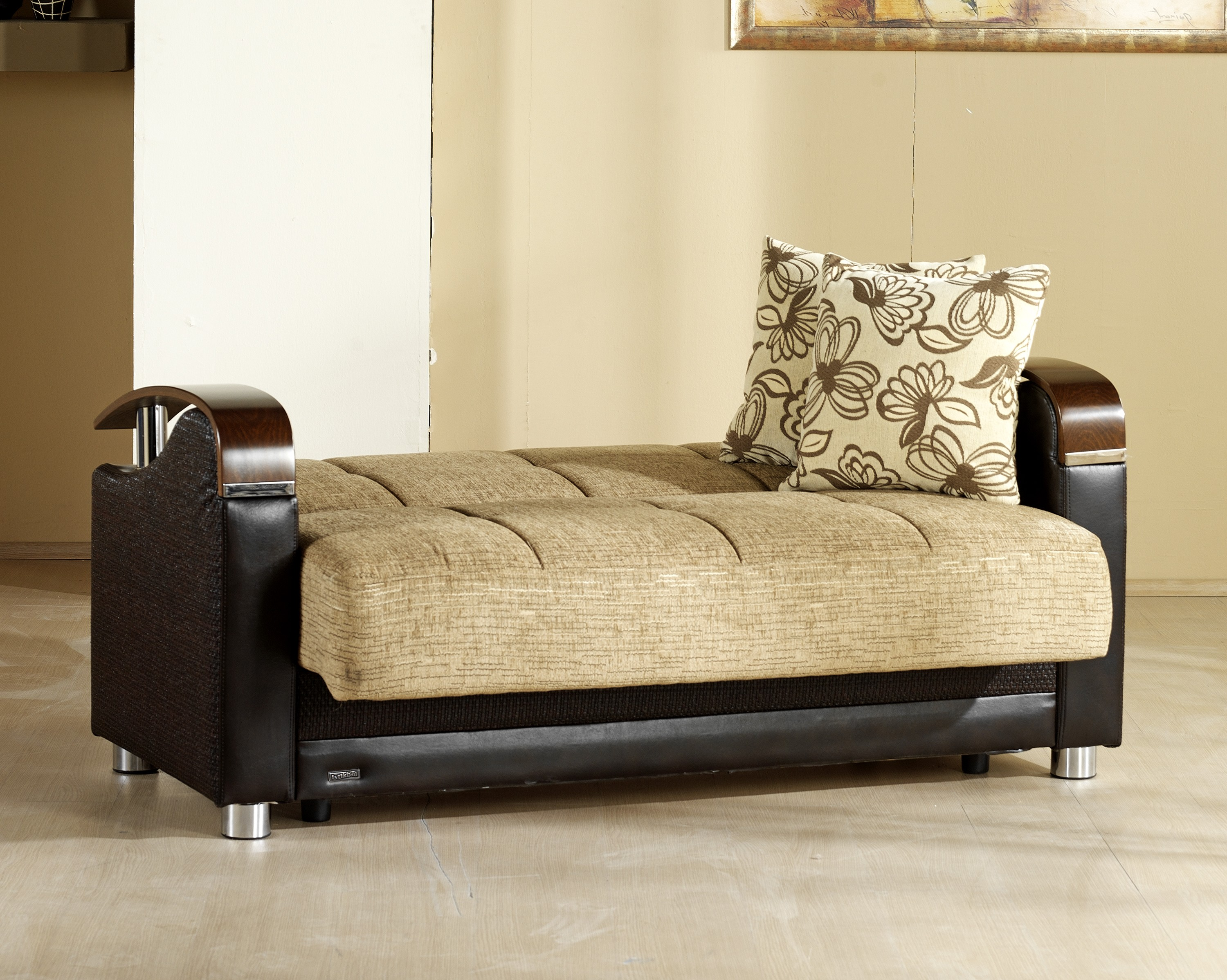 chicago sofa bed king luna fulya brown convertible with storage