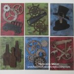 Manly ATCs with Gina's Designs