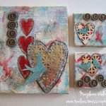 Mixed Media Canvas with Metal Embellishment