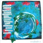 Don't Look Back: Mixed Media Art on Cork Sheet