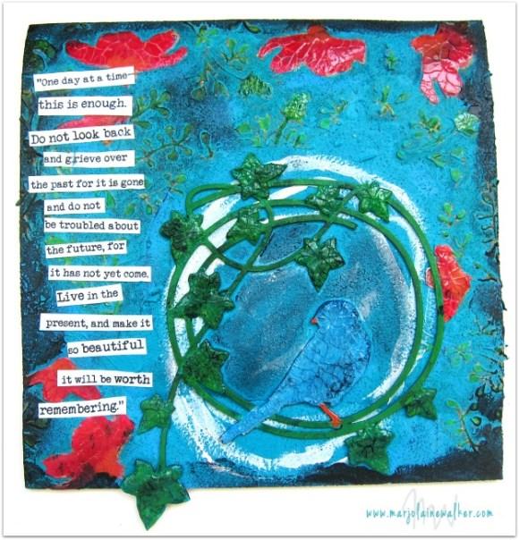 Mixed Media Art on Cork Sheet