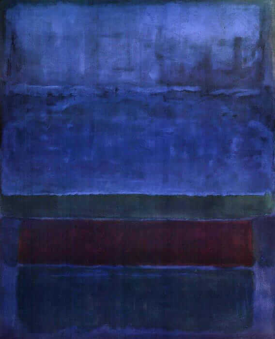 Blue, Green, and Brown (1952) by Mark Rothko