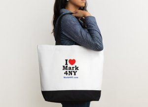 High quality cotton zippered tote bag