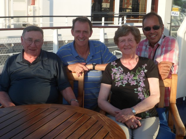 On the boat with Mark's parents