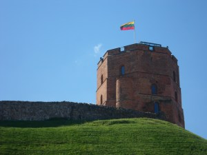 Remains of the medieval Upper Castle of Vilnius