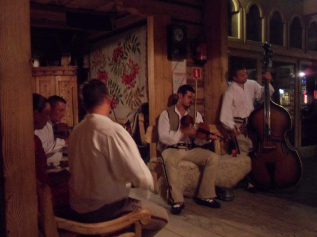 Musicians at Polish restaurant