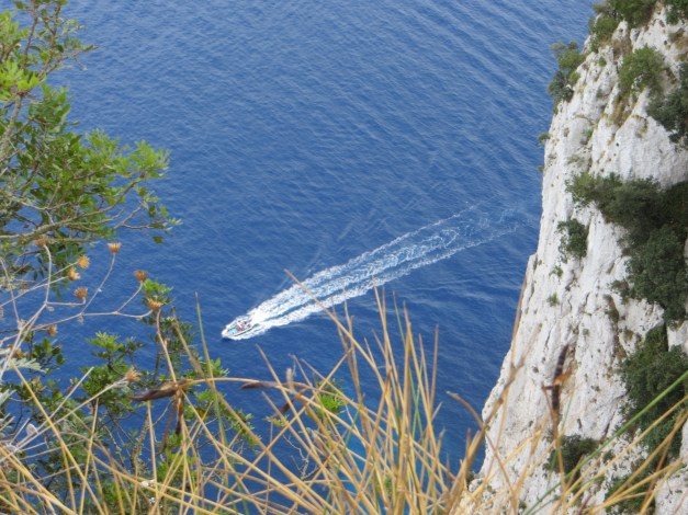 The cliff near emperor Tiberius' villa from which inconvenient people, including recent lovers, were said to be thrown