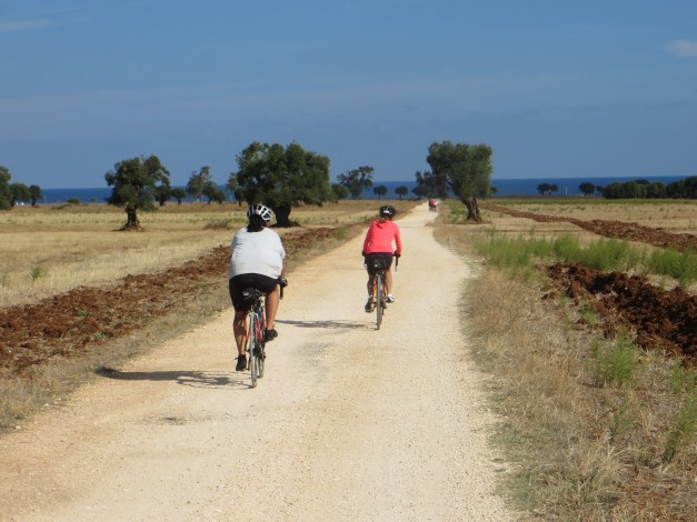 Bicycling on an ancient Roman road, connecting Rome to Brindisi