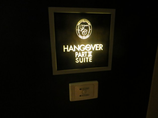 Apparently 'The Hangover Part II' was partly filmed in our hotel, including this room right next door to ours. It almost makes me want to see the movie, though it might be tough to follow since I haven't seen the first one.