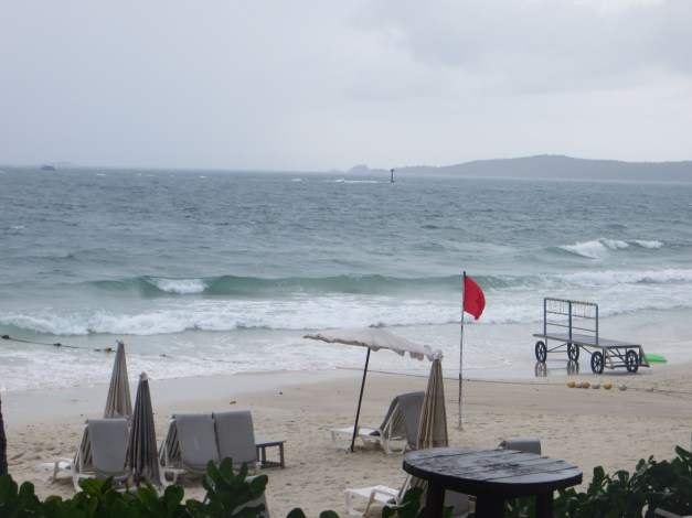 The beach on a stormy day