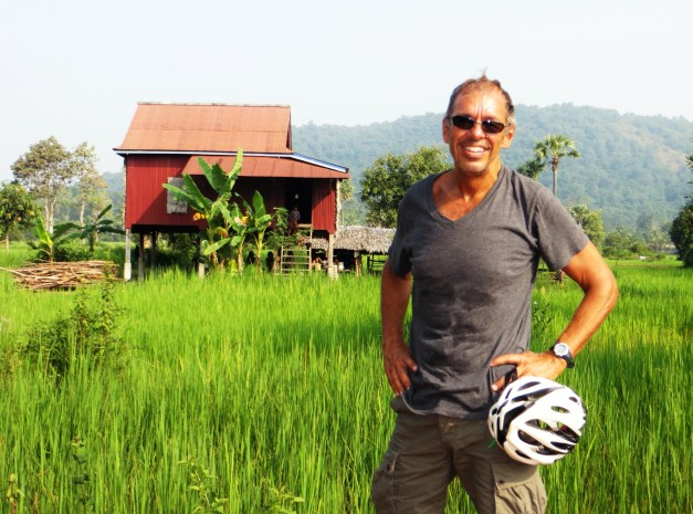 I saw a lot of rice fields and rural houses today