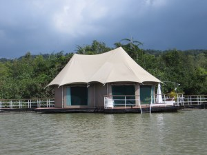 Our floating tent home