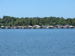 We rode an hour and a half by boat to visit this remote village