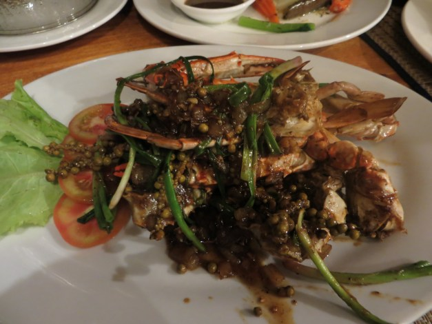 Local, fresh crab with Kampot pepper sauce. It was really yummy.