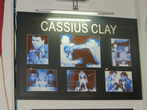 We had a drink in Kompong Chom at a bar called Chaplin's that had his tribute to ... Cassius Clay? Wait, what century is this again?