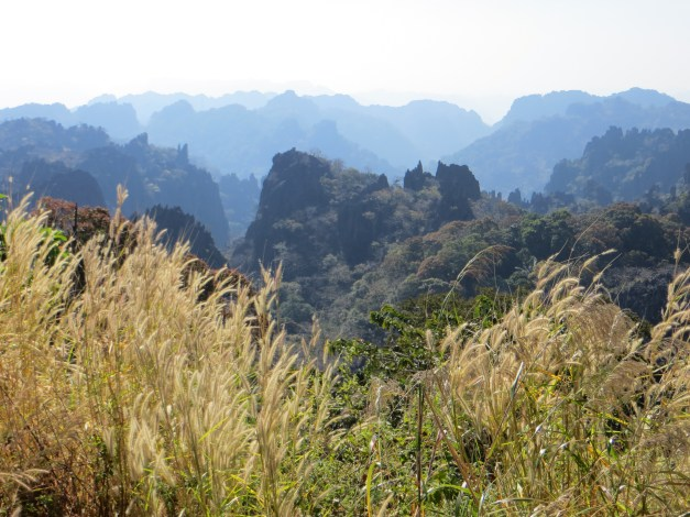 This was the karst scenery through the Phu Hin Bun national park on the way to Kong Lor cave