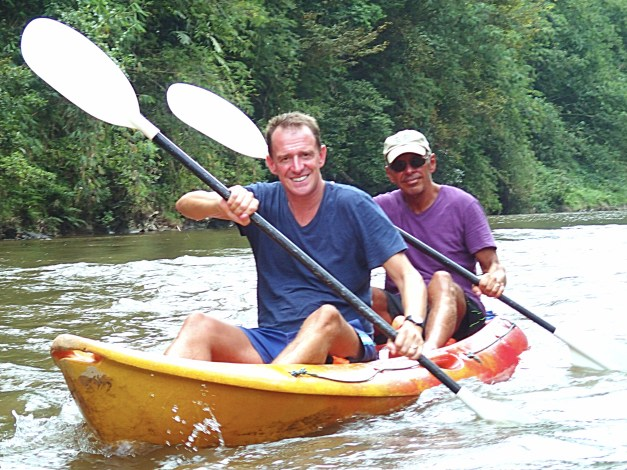 Mark & Jim in a kayak