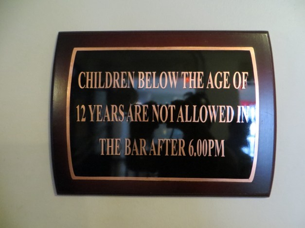 I loved this one. If you're 10, you can only stay at the bar until 6:00, but if you're 13 midnight is fine!