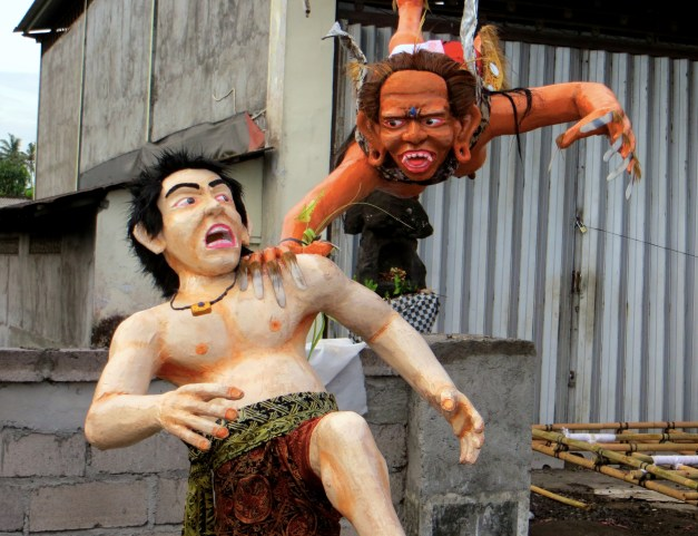 Monsters are prepared to catch anyone who's out and about on Nyepi