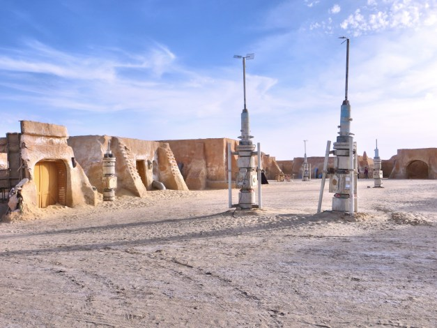 Yes, Star Wars was filmed out here, and some of the set is still here. Interestingly, parts of The English Patient were also filmed around here.