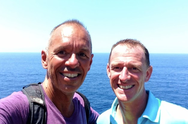 Happy us hiking on Capri
