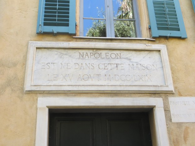 """They really want you to know that Napoleon was born here in Ajaccio. The museum, though, didn't tell you a lot, presumably because they didn't want to get into that whole """"started a bunch of wars and got a lot of people killed"""" thing. For me the most intriguing point about Napoleon is that although he started all these wars and tried to take over the world, he was exiled, and not executed. And then, when he escaped Elba and tried to take over the world AGAIN, he still wasn't executed, just sent to a more secure island after he was defeated. Perhaps those 19th century statesmen were more enlightened than today's?"""
