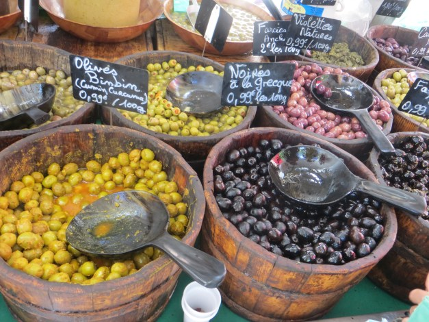 And of course, another market in the center of town. We didn't buy these, but the olives on our lunch salads were some of the best ever. Ever.