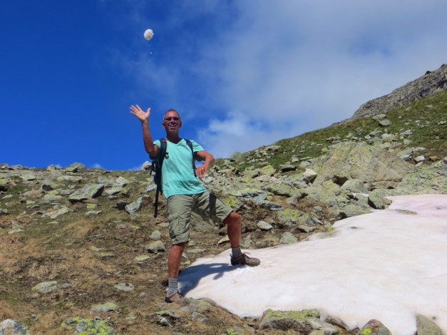 A snowball fight on July 15th!
