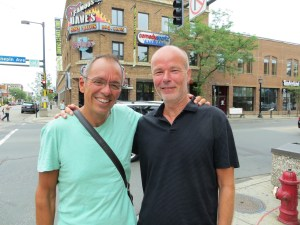 We had a great long lunch with Jeff, my college roommate. As you can tell, neither of us has aged a day!