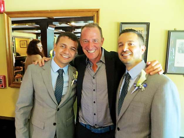 Mark and the grooms, Marcony and Mark