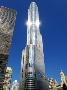Chicago is a city with incredible architecture. We love this comparatively new building, except for the piece of crap Donal Trump it's named after.