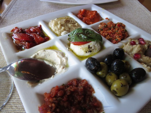 Food doesn't get much better than this Turkish appetizer plate