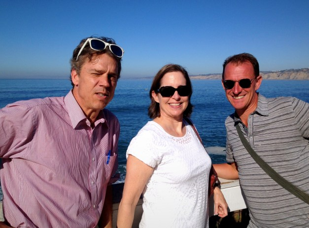 A special treat was meeting up in La Jolla for lunch with my long-ago coworker Bart & his wife Nina