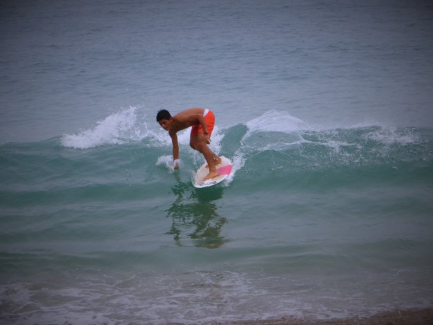 Kids would come down to the beach most mornings and surf
