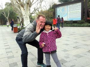 Westerners are pretty rare in Hangzhou, and little kids in particular were often fascinated by us