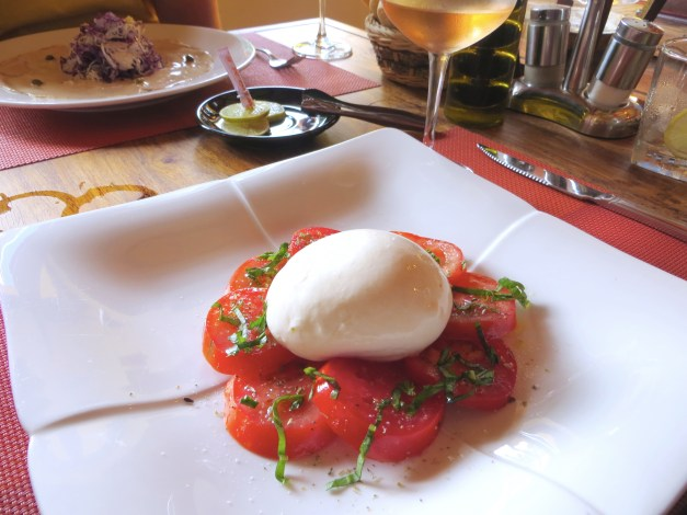 Our Italian restaurant find had a great Caprese salad, every bit as good as you'd get in Italy