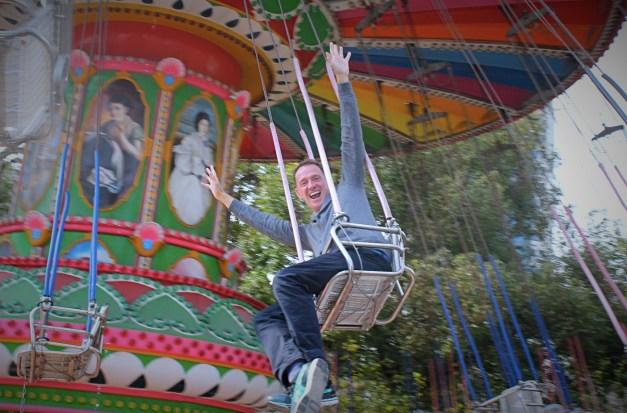 Someone sure enjoyed the amusement park
