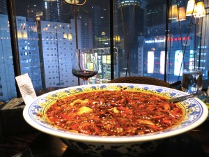 A spectacular pork dish in a restaurant on the eighth floor of a mall in Chongqing, where all good Chinese restaurants are