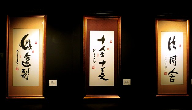 Another exhibit at the Hubei Provincial Museum was the Venerable Master Hsing Yun's One-Stroke Calligraphy. Stunning.