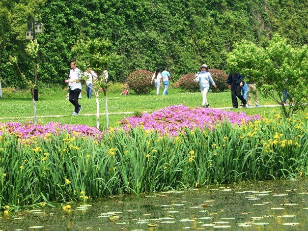 Wherever you went there were lots of people walking around the lake