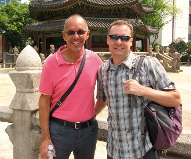 We're traveling in Korea for a couple weeks with our friend Bill Armstrong, a Minnesotan who is also a Navy veteran. Despite those similarities, I don't know him from Minnesota or the Navy; we met several years ago on vacation in Chile and have stayed in touch over the years. He's traveling for a year, so we met up in Korea before he heads to Japan and New Guinea.
