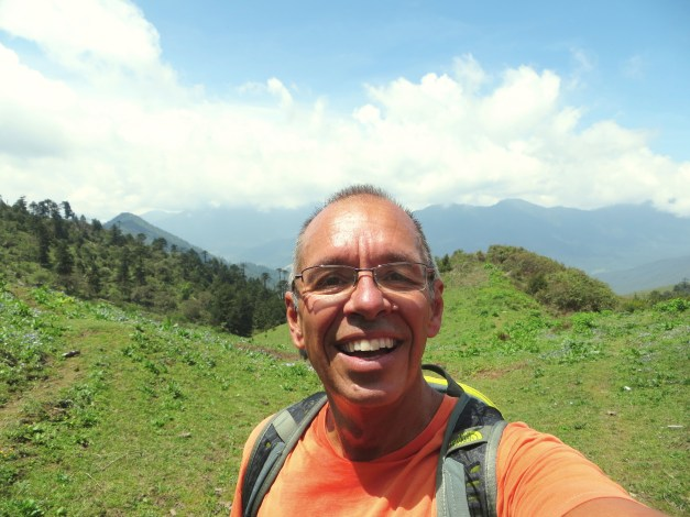 For me, the highlight was a huge hike up and over an 11,800 foot pass. I took this selfie as a very happy and satisfied climber...