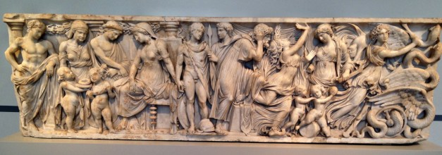 A second-century Roman sarcophagus telling the story of Medea. Part of what I loved about this museum was that the descriptions were really helpful, showing how each character there is doing something to demonstrate a particular part of the story.